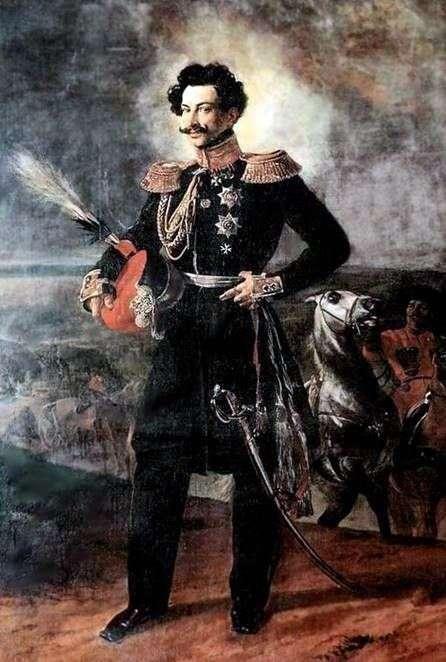 A. A. Perovsky伯爵   卡尔 布鲁洛夫的肖像