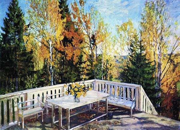 秋天。阳台   Stanislav Zhukovsky