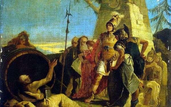 Alexander the Great和Diogenes   Giovanni Battista Tiepolo