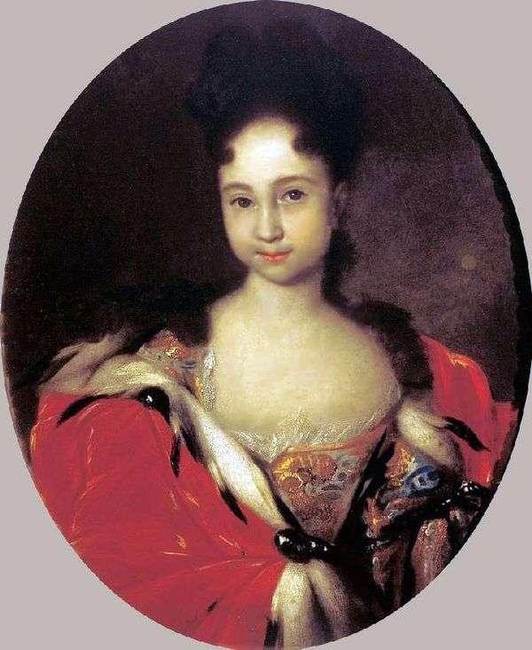彼得1的女儿安娜彼得罗夫娜的肖像   伊万尼基丁