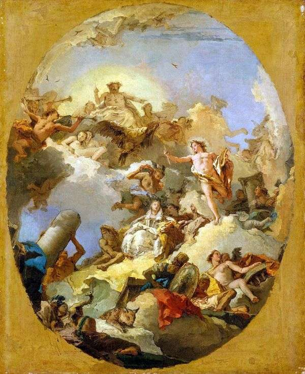 西班牙君主制的典范   Giovanni Battista Tiepolo
