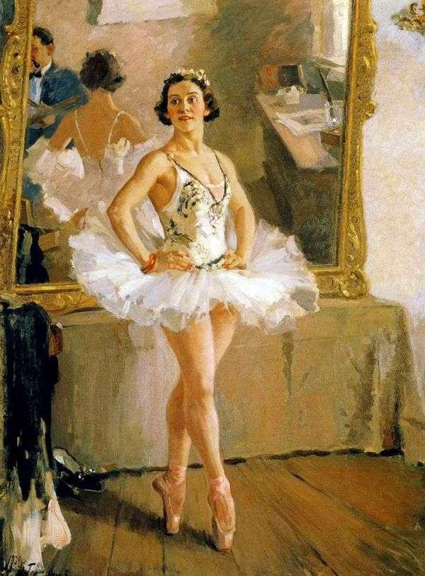 芭蕾舞女演员O. V. Lepeshinskaya   亚历山大 格拉西莫夫的画像