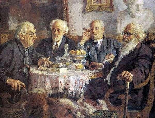 最古老的苏联艺术家的画像I. Pavlov,V。Baksheev,V。Byalynitsky Birulya和V. Meshkov   Alexander Gerasimov