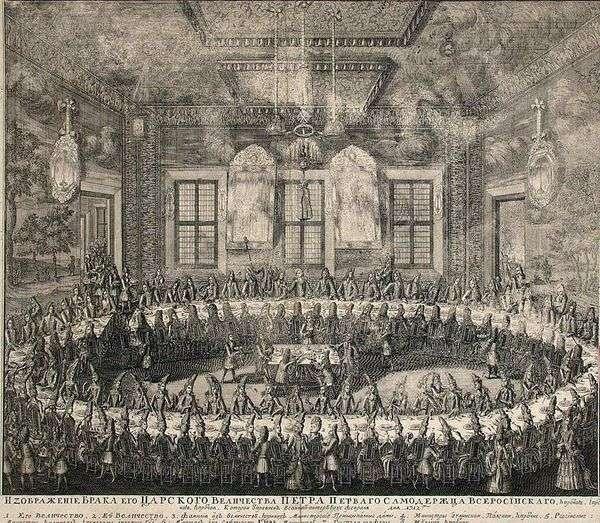 2月19日彼得一世和凯瑟琳一世的婚礼   阿列克谢 祖博夫