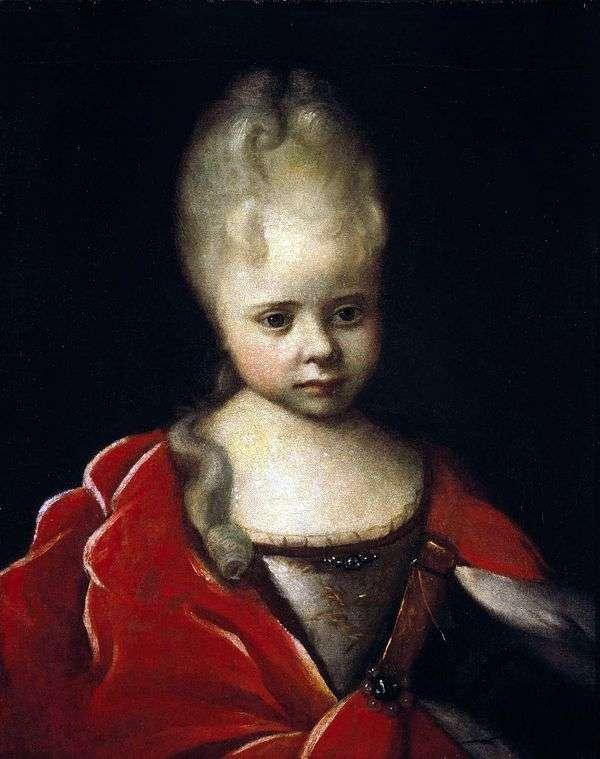 作为孩子的伊丽莎白Petrovna画象   伊冯Nikitin
