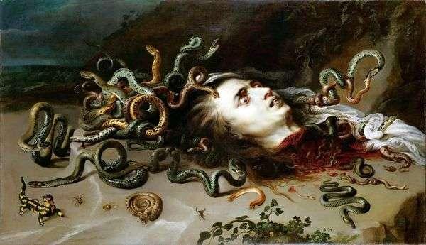 美杜莎Gorgon的头   彼得鲁本斯
