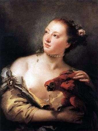 有鹦鹉的女孩   Giovanni Battista Tiepolo