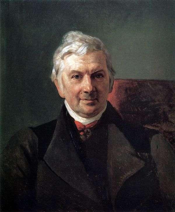 K. A. Janisch的肖像   Karl Bryullov