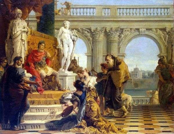 Maecenas向皇帝奥古斯都提供免费艺术   Giovanni Battista Tiepolo