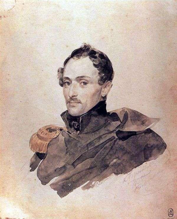 船长B. Kostecki的画像   Karl Bryullov