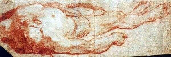 躺在地上的男人   Giovanni Battista Tiepolo