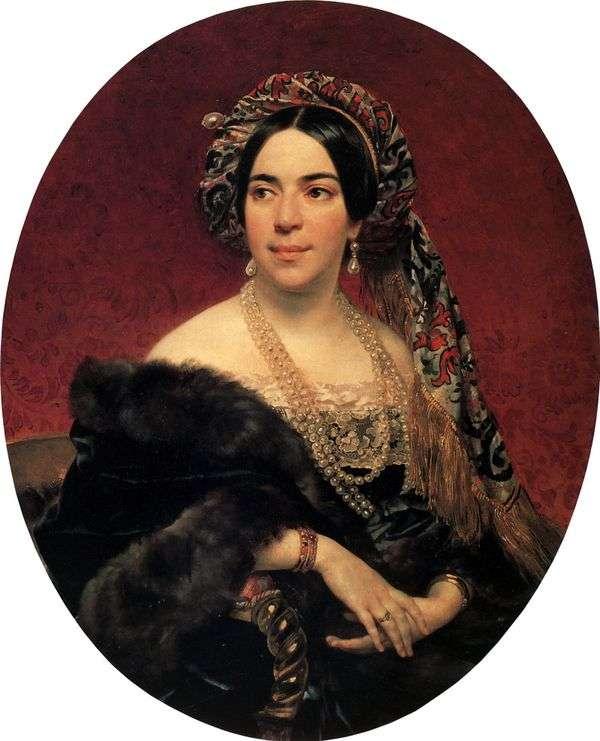 王子的肖像 M. P. Volkonskaya   Karl Bryullov