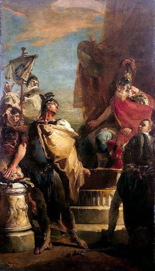Porsenna营地的Muzio Scovola   Giovanni Battista Tiepolo
