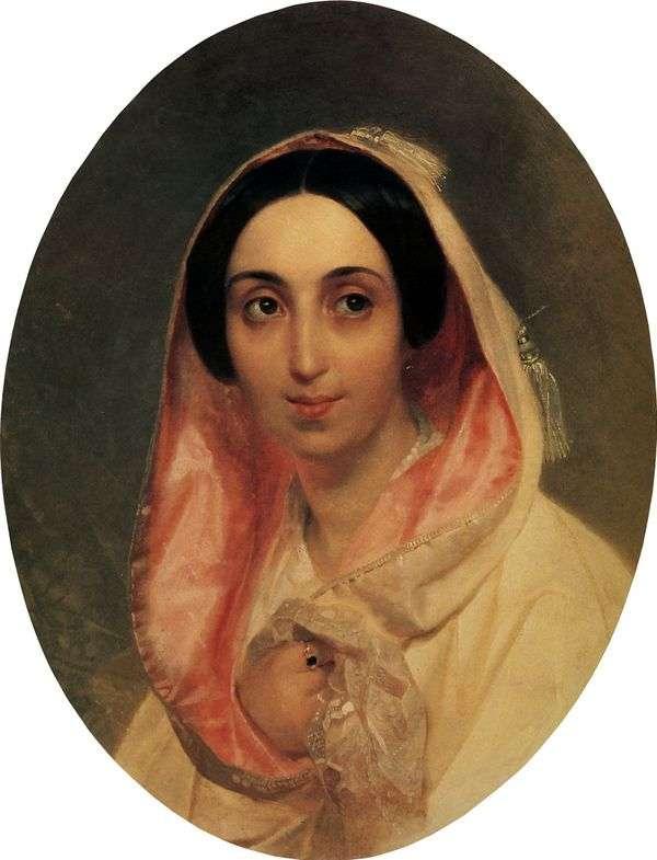 A. A. Bagration公主的肖像   Karl Bryullov