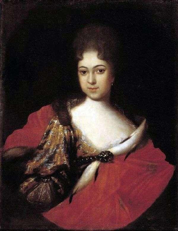 公主Praskovya Ioannovna   Ivan Nikitin画象