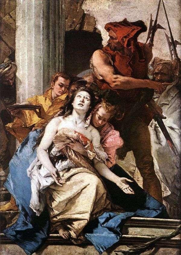 殉难sv。Agatha   Giovanni Battista Tiepolo