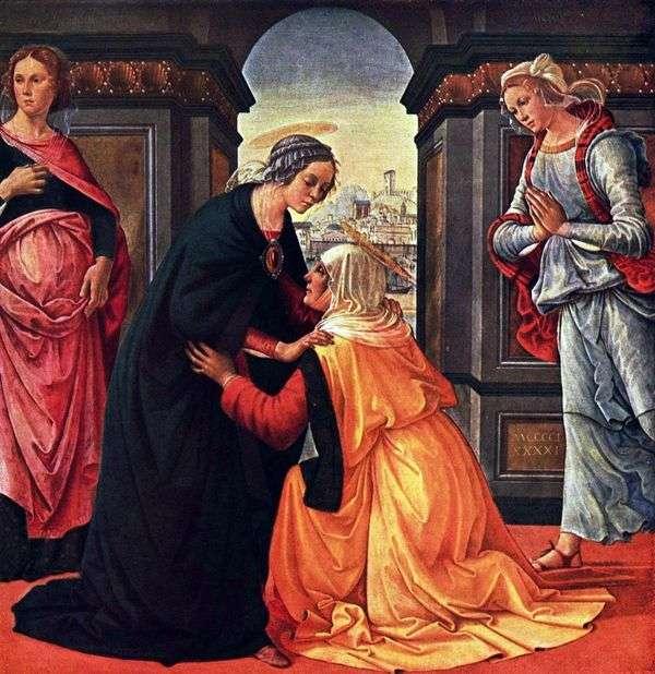 玛丽和伊丽莎白的会面   Domenico Ghirlandaio