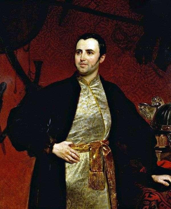 M. A. Obolensky王子的肖像   Karl Bryullov