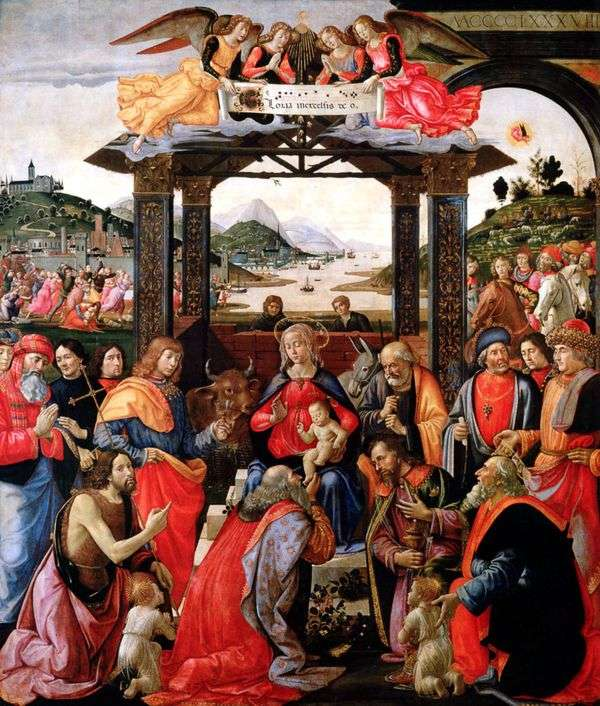 崇拜魔法师   Domenico Ghirlandaio