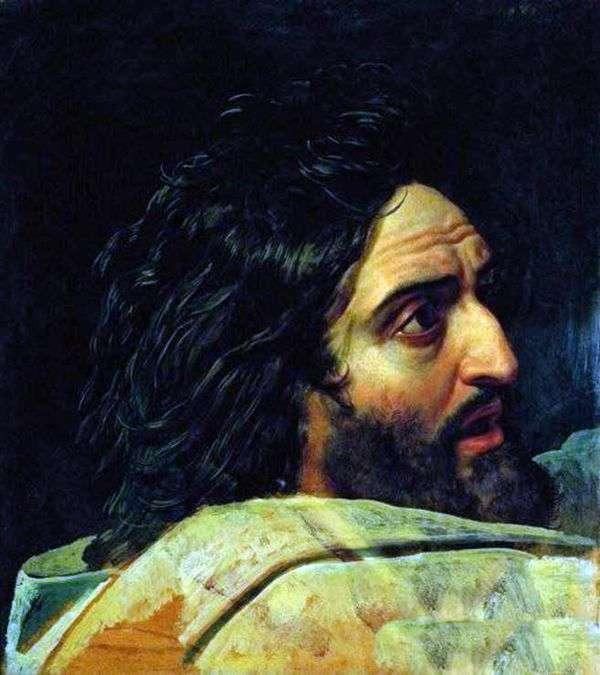 施洗约翰的形象。图片的片段   亚历山大伊万诺夫