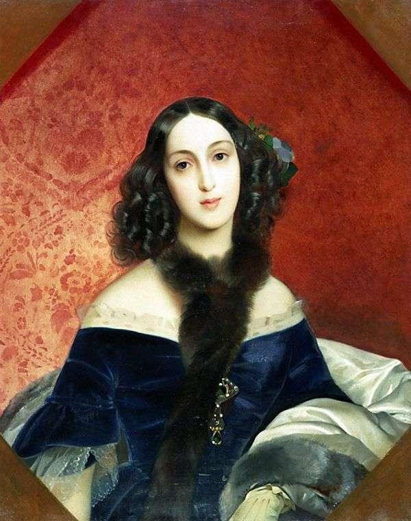 M. A. Beck的肖像   Karl Bryullov
