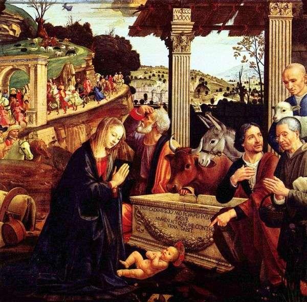 对牧羊人的崇拜   Domenico Ghirlandaio