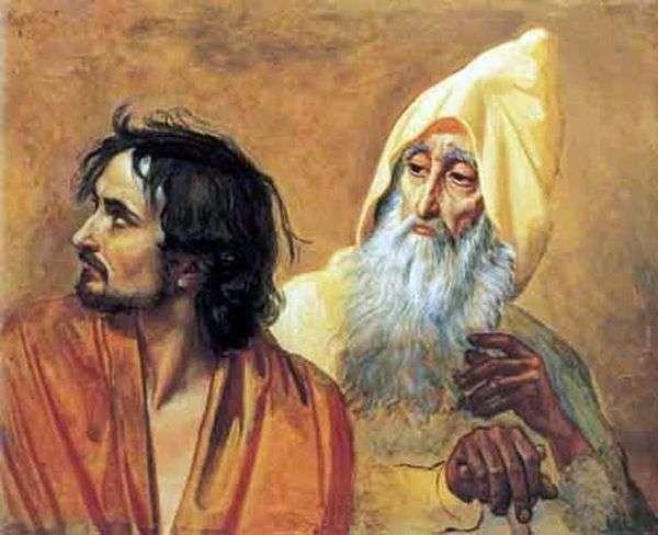 悔改的罪人(N. V. Gogol)的形象。图片的片段   亚历山大伊万诺夫