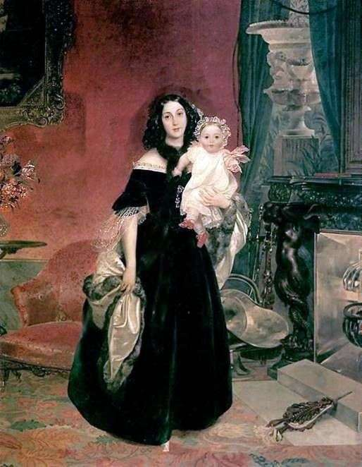 M. A. Beck和他女儿的画像   Karl Bryullov