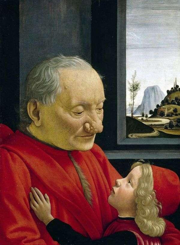 一个老人的画象有孙子的   多梅尼科Girlandaio