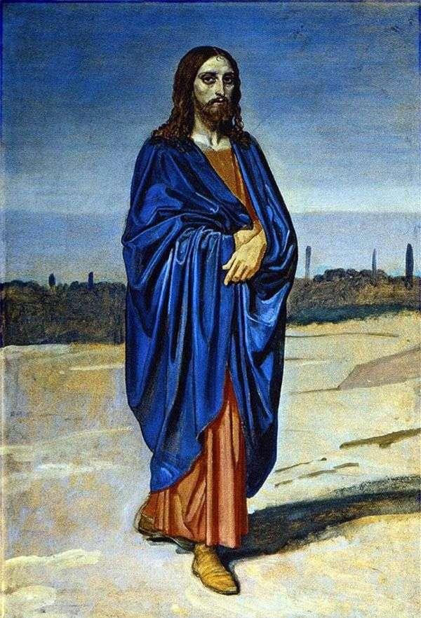 基督的形象。图片的片段   亚历山大伊万诺夫