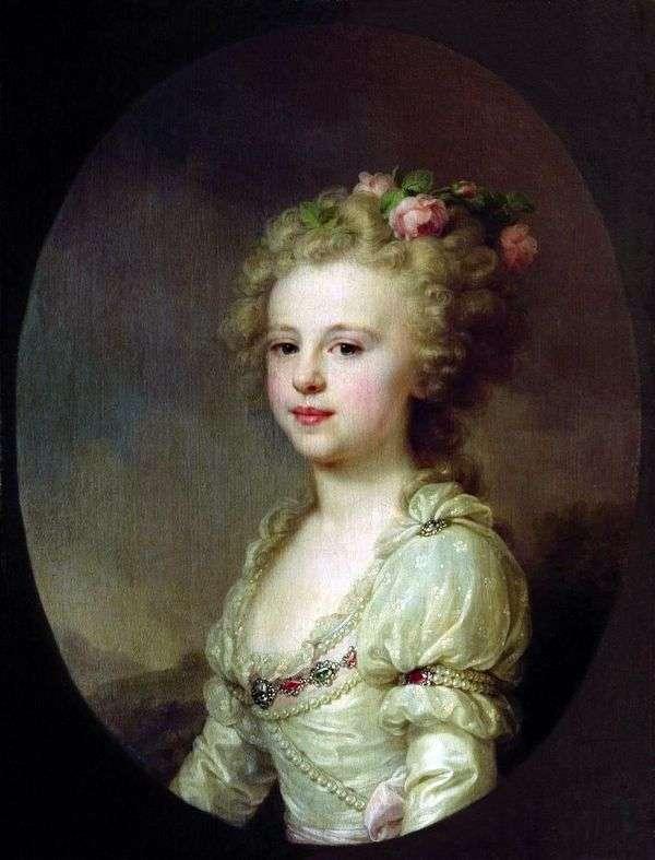作为孩子的大公夫人亚历山德拉Pavlovna画象   约翰浸礼会教友Lampi