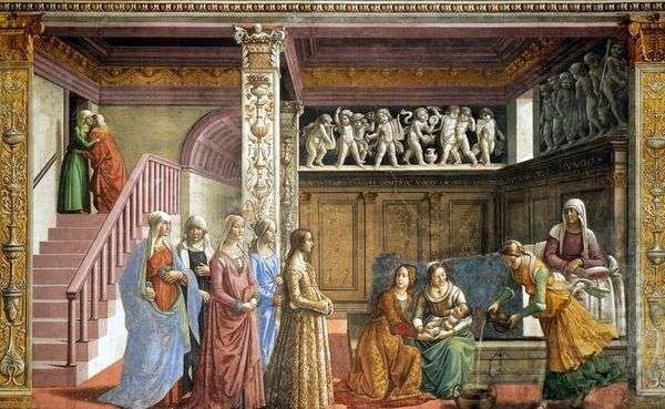 玛丽亚的诞生   Domenico Ghirlandaio