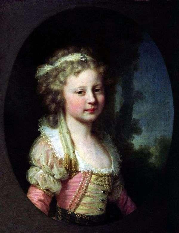 作为孩子的大公夫人埃琳娜Pavlovna画象   约翰浸礼会教友Lampi