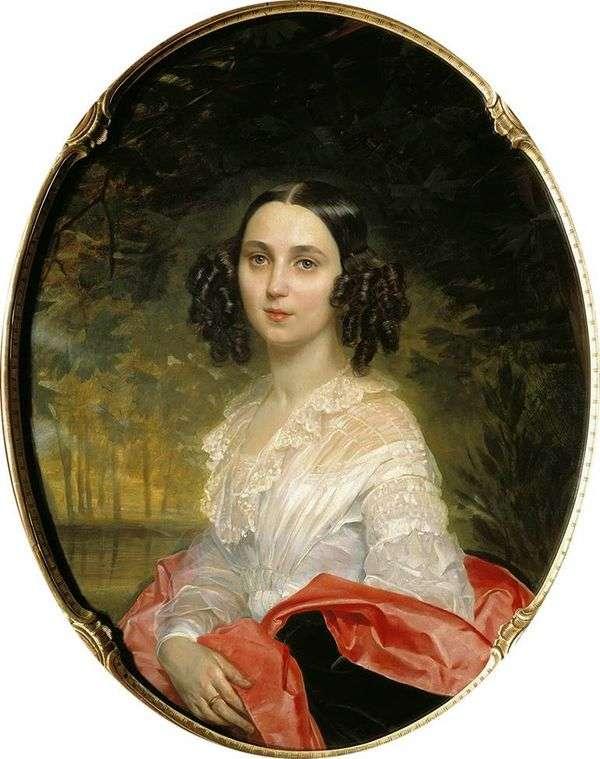 M. I. Alekseeva的肖像   Karl Bryullov