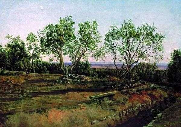 橄榄在阿尔巴诺的墓地。新的一个月   亚历山大伊万诺夫
