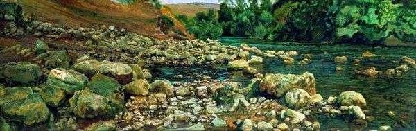 维科瓦拉的脚。河边的石头   亚历山大 伊万诺夫