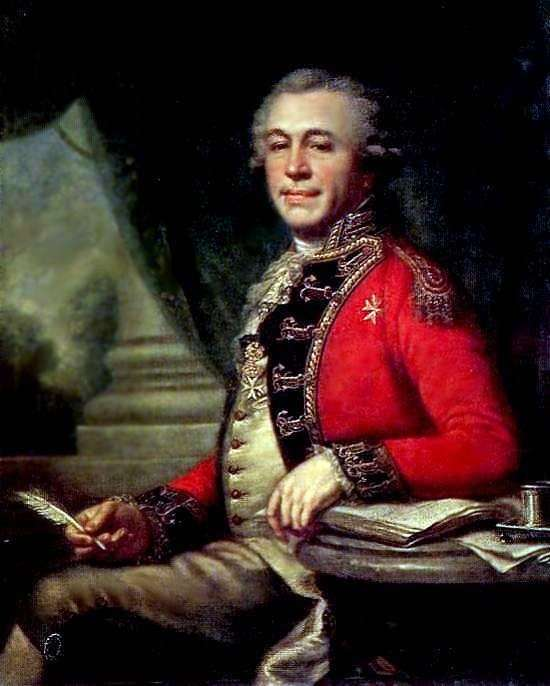 I. L. Lazarev   Johann Baptist Lampi的肖像