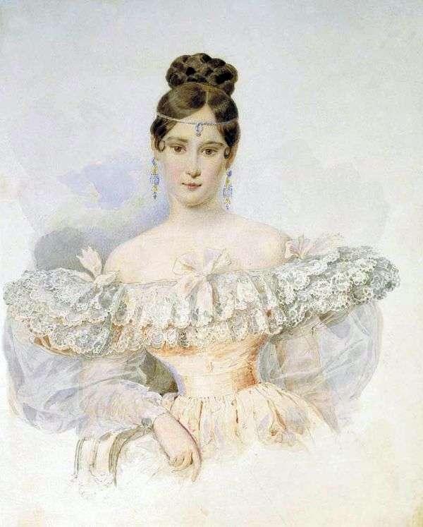 N. N. Goncharova的肖像   Karl Bryullov