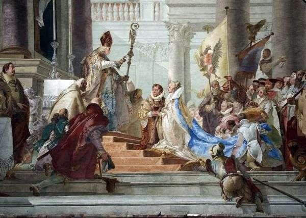 Friedrich Barbarossa和勃艮第Beatrice的婚礼   Giovanni Battista Tiepolo