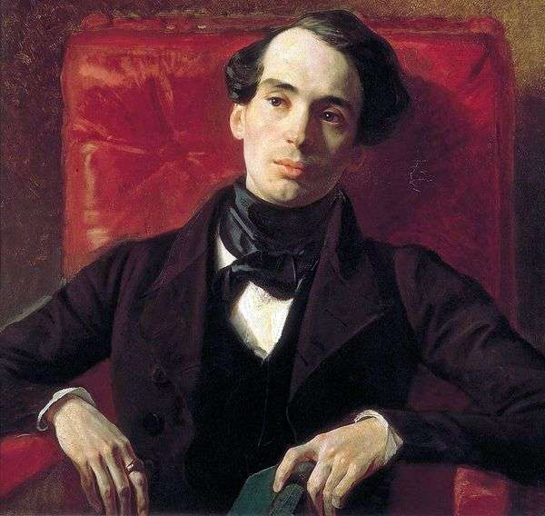 作家A. N. Strugovshchikov的肖像   Karl Bryullov