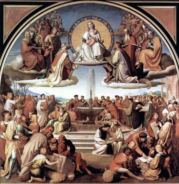 艺术中的宗教胜利   约翰弗里德里希Overbeck