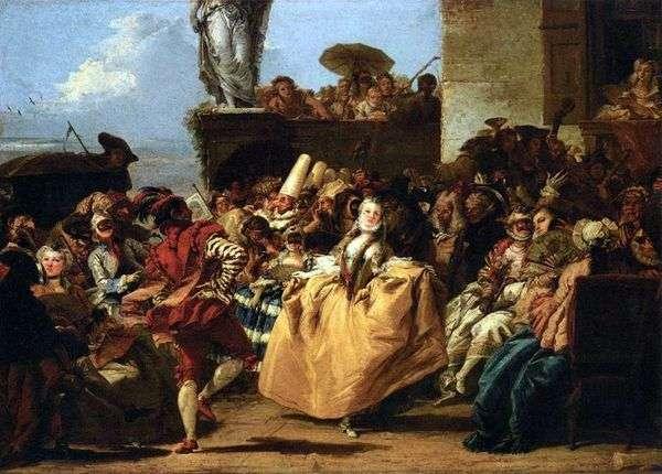 嘉年华场景,或小步舞曲   Giovanni Domenico Tiepolo