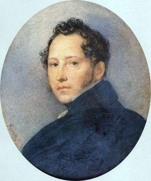 S. F. Shchedrin   Karl Bryullov的肖像