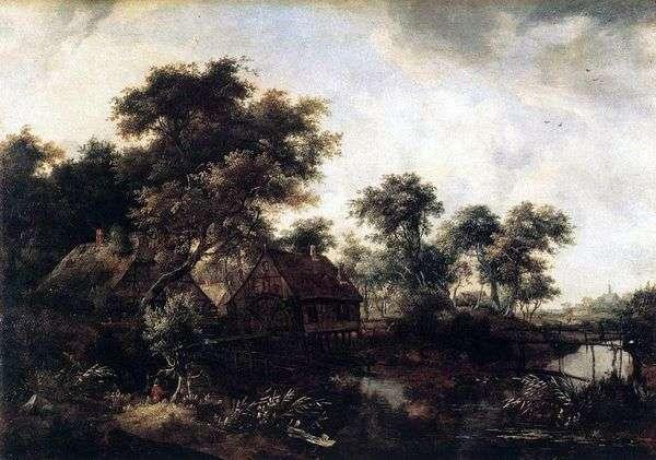 Watermill   Meindert Hobbema