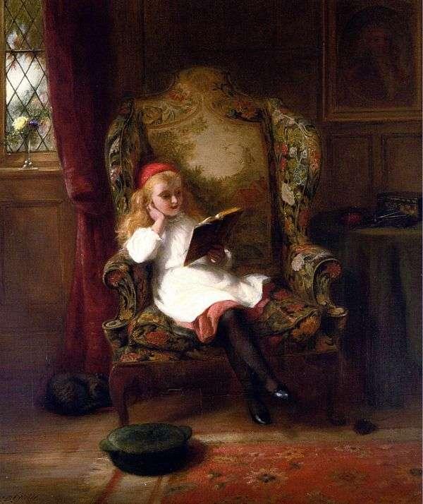 愉快的阅读(儿童肖像)   乔治伯纳德奥尼尔