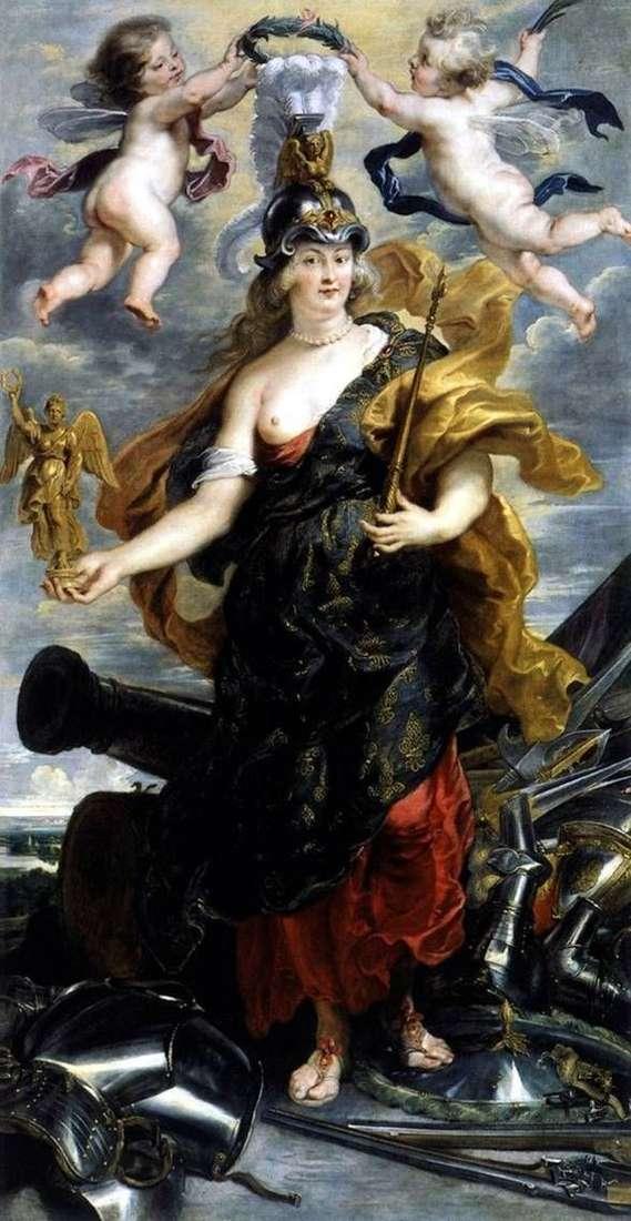 Maria Medici饰演Bellona   Peter Rubens