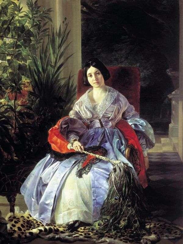 最高公主Elizaveta Pavlovna Saltykova的肖像   Karl Bryullov