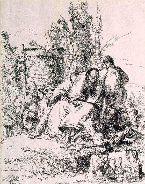 骷髅巫师   Giovanni Battista Tiepolo