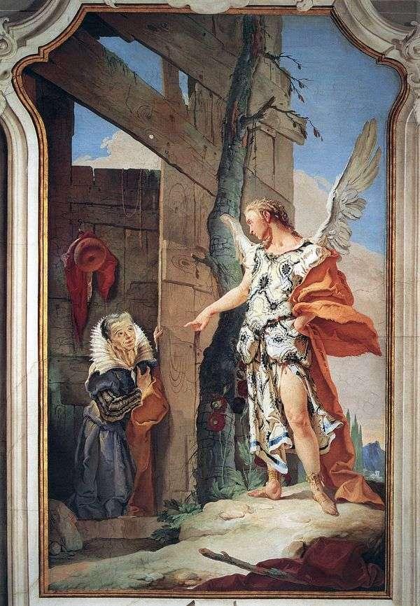 天使Sarah的外观   Giovanni Battista Tiepolo