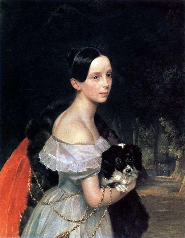 W. M. S Smirnova的肖像   卡尔Bryullov